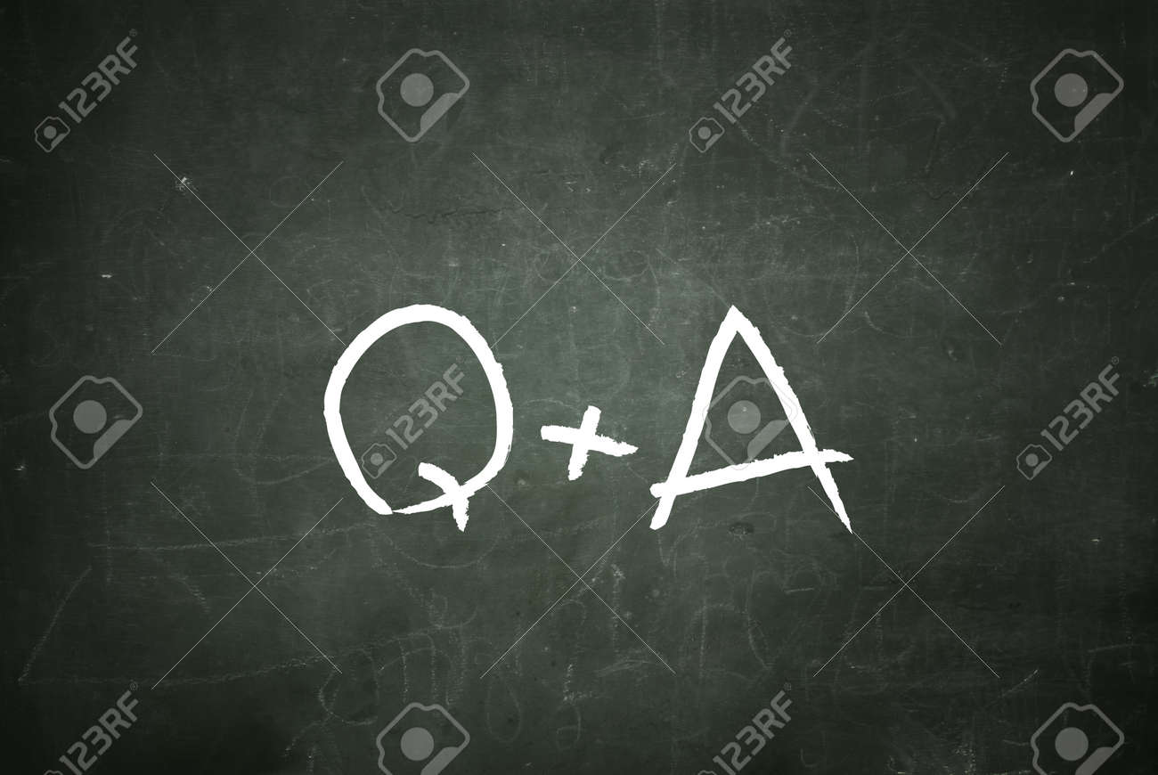 writing q a questions and answers on a blackboard stock photo stock photo writing q a questions and answers on a blackboard