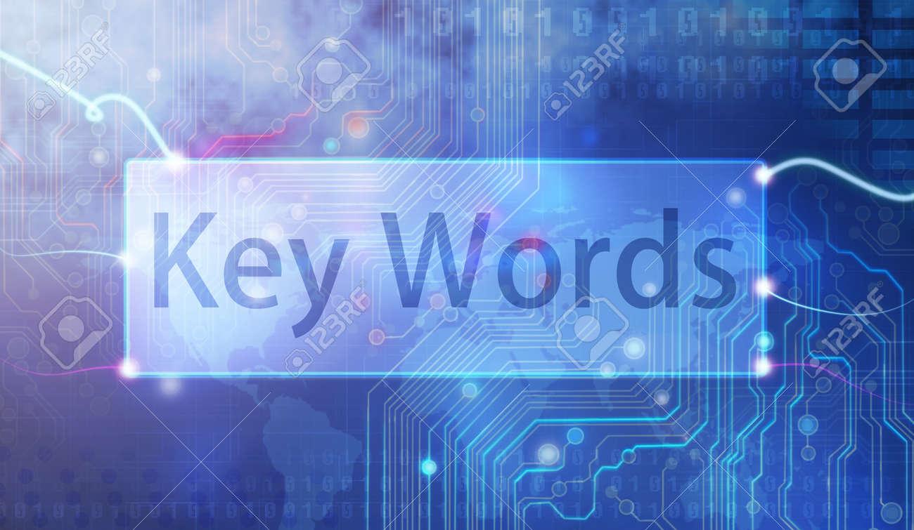Keywords on blue background. Stock Photo - 12404583