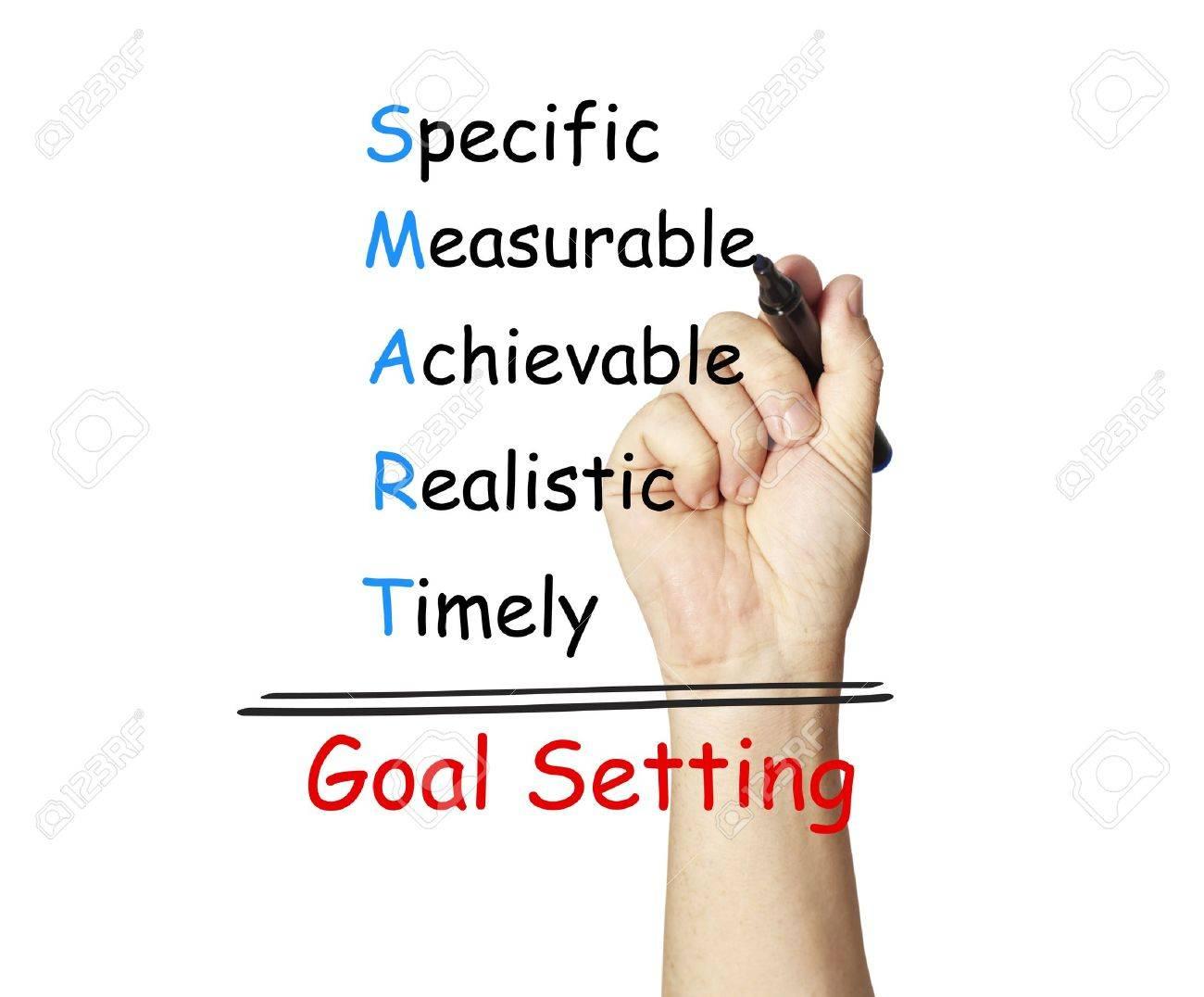 Hand writing smart goal Stock Photo - 17901863