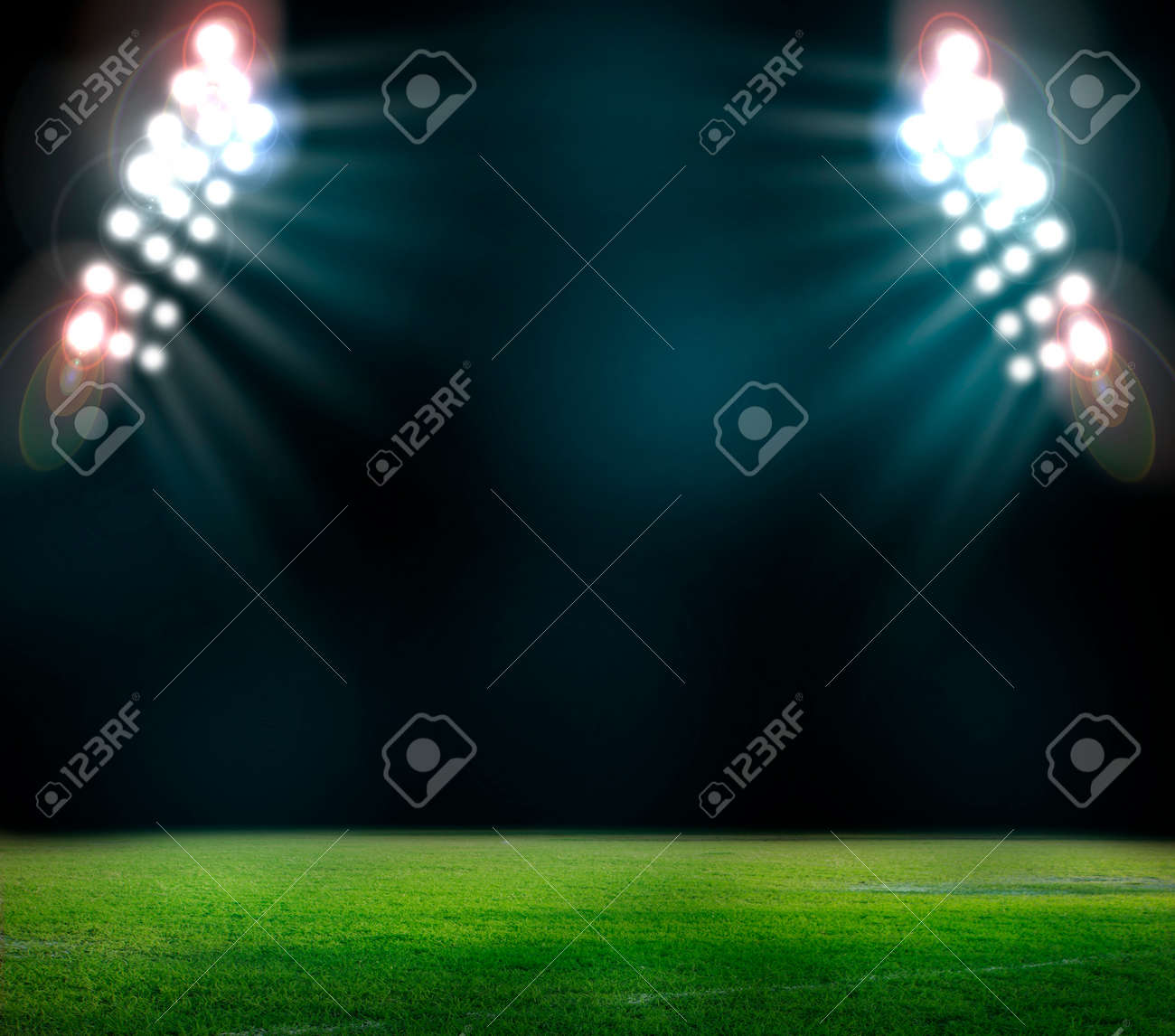soccer stadium with the dright lights - 29274169