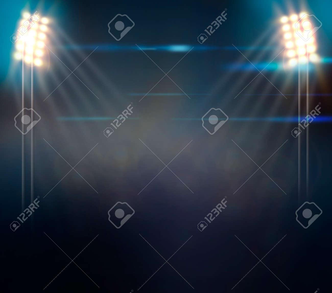 Image of defocused stadium lights at night - 29776649