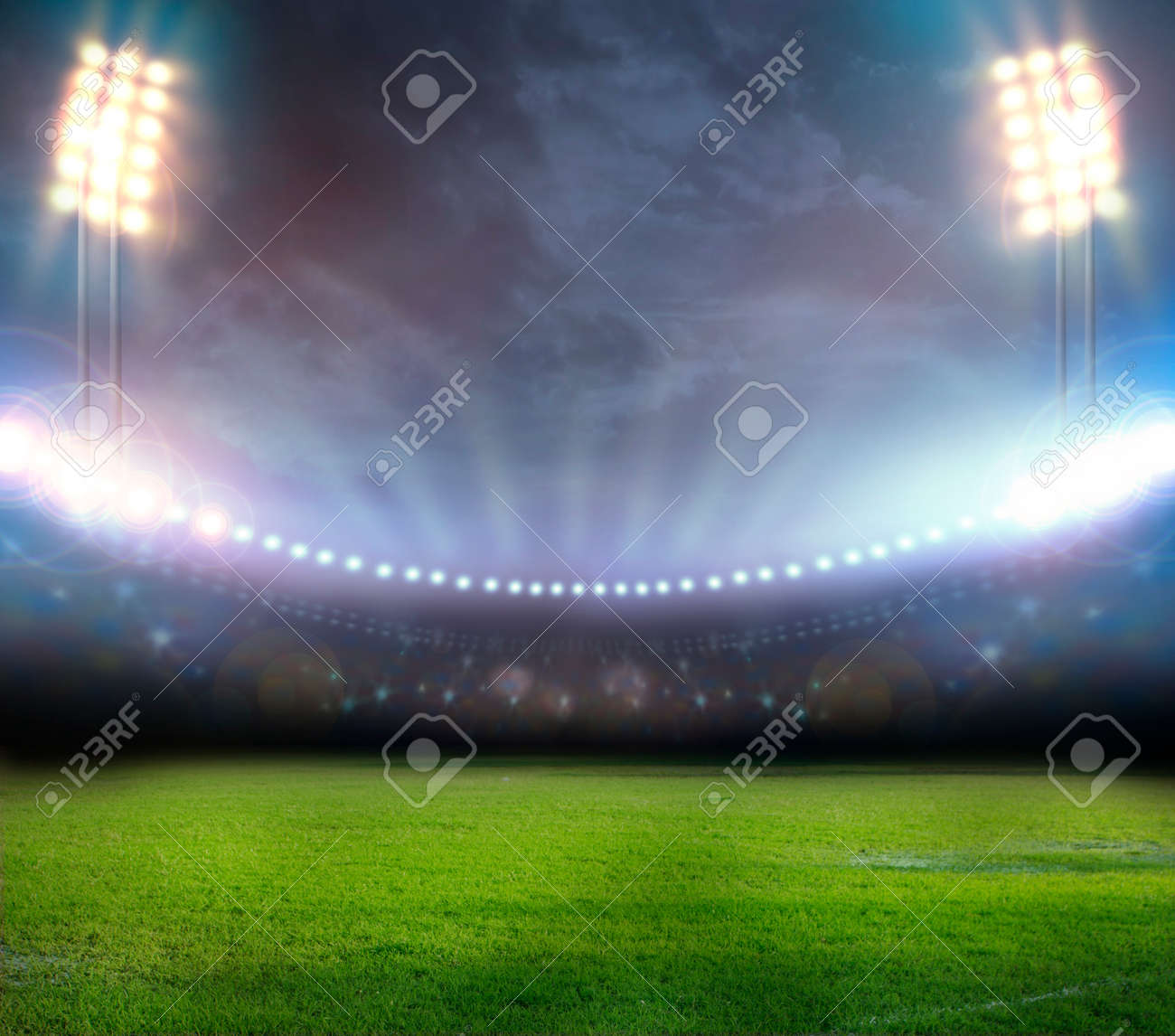 stadium in lights and flashes - 29776676