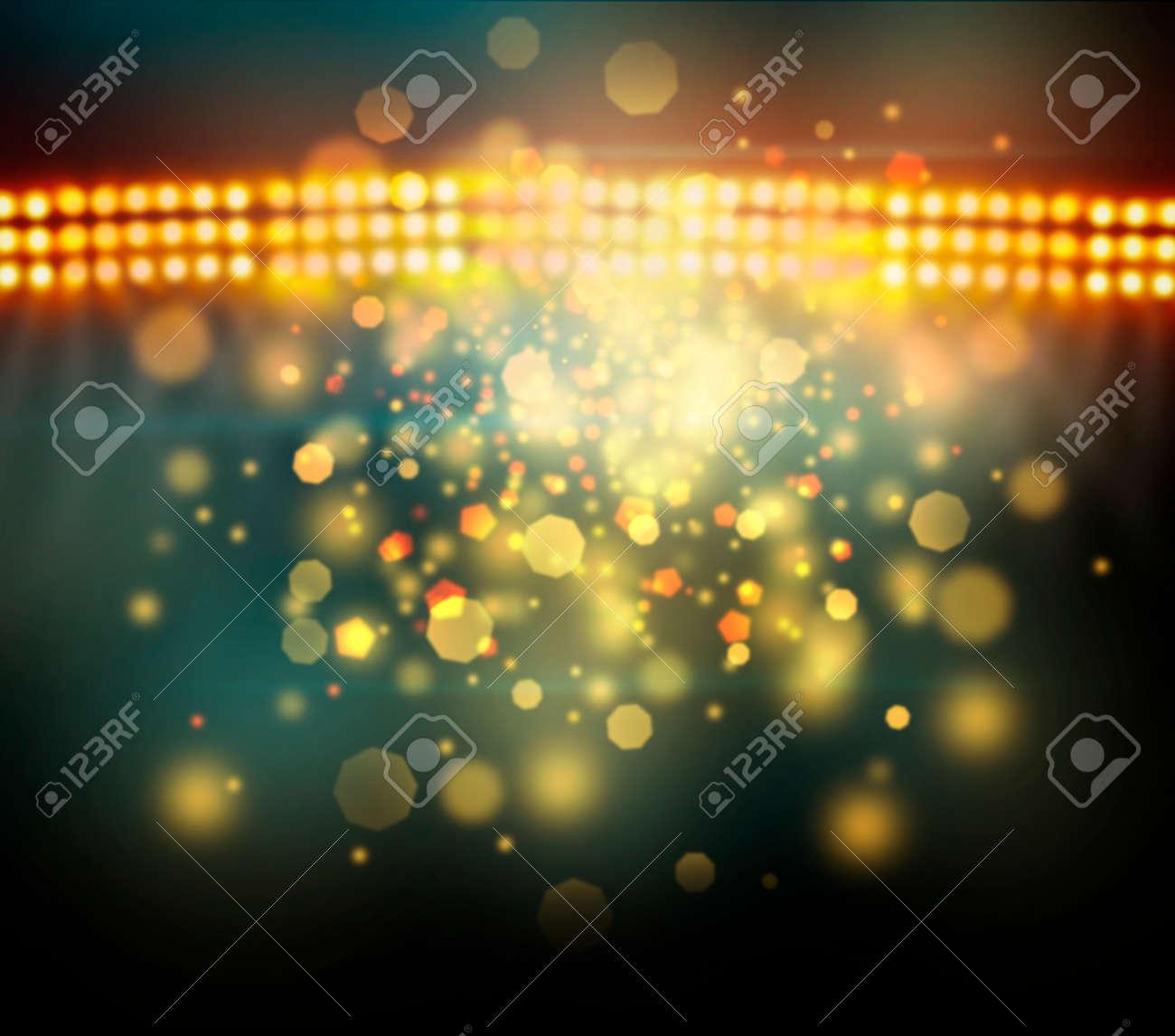 Image of defocused stadium lights at night - 29776677