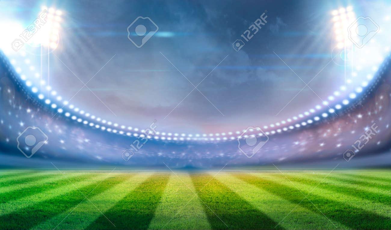 lights at night and stadium - 32817329