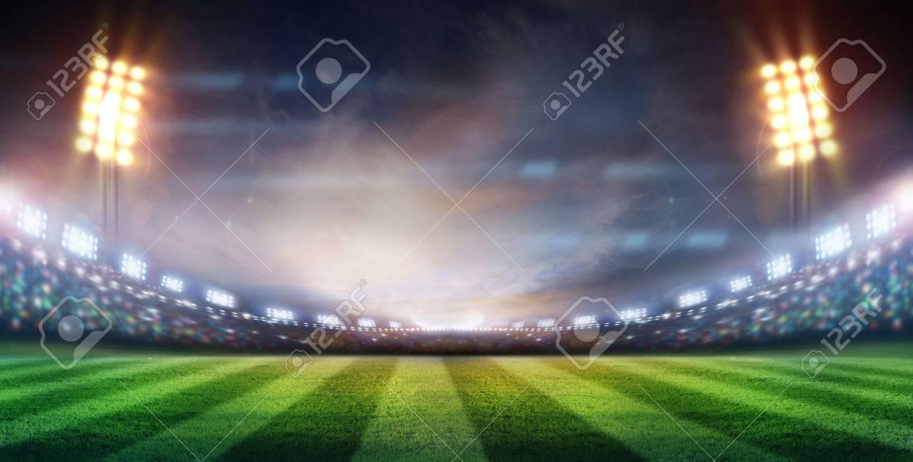 lights at night and stadium - 32873143
