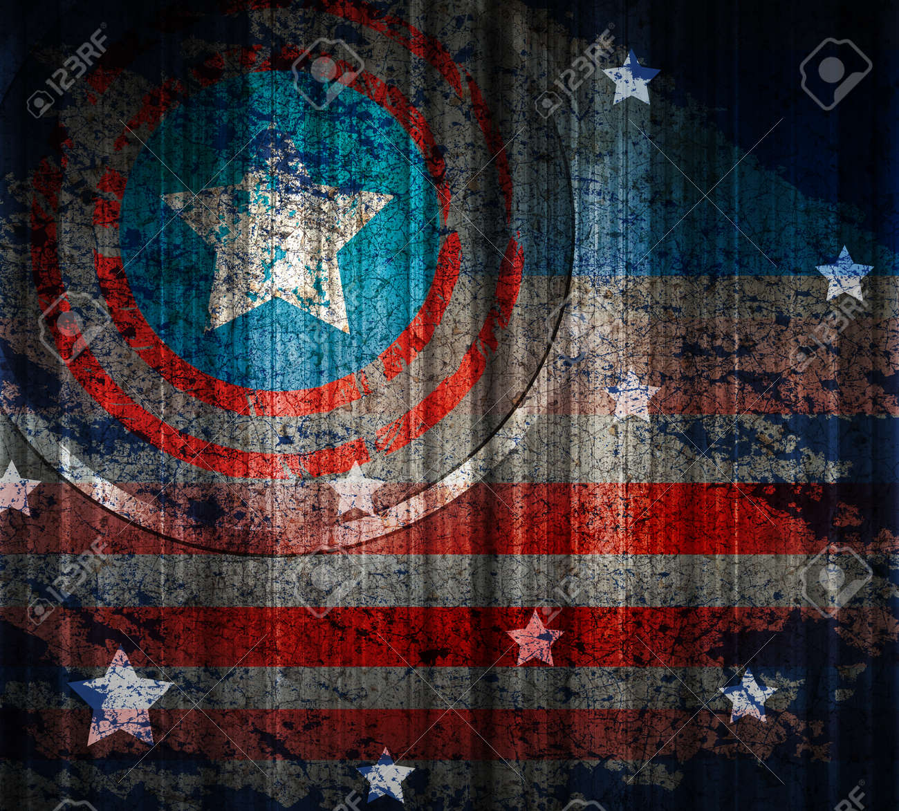 3ac9e03d7b4 American flag vintage textured background. Stock Photo - 32843749