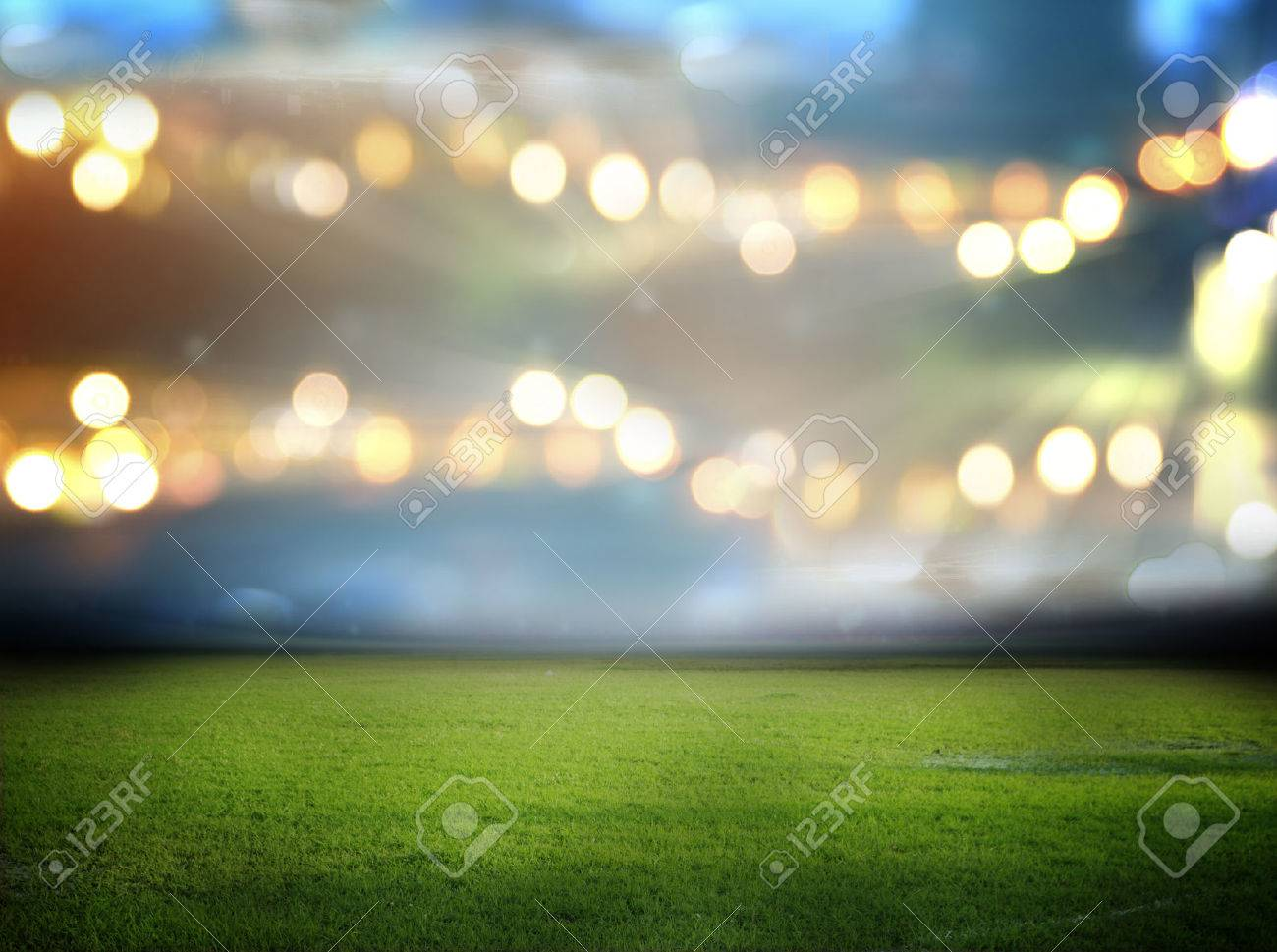 stadium in lights and flashes - 32845437