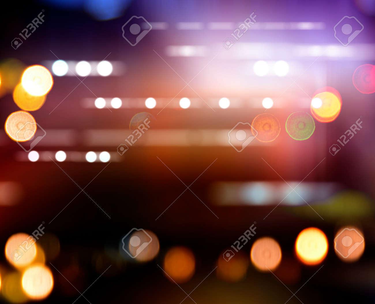 city lights blurred bokeh background - 32843873