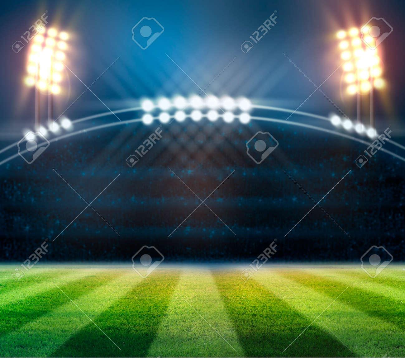 lights at night and stadium - 47059580