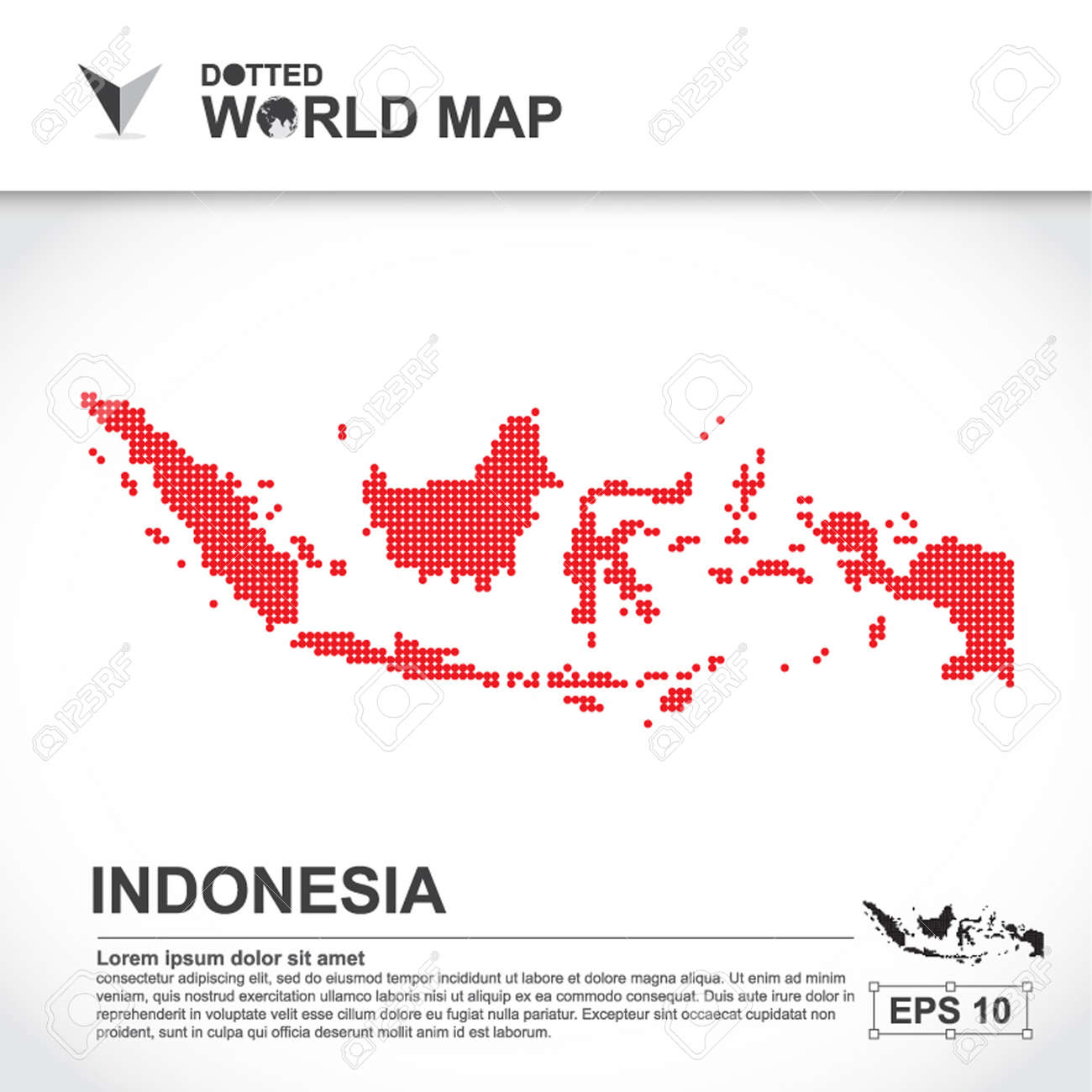 indonesia map infographic