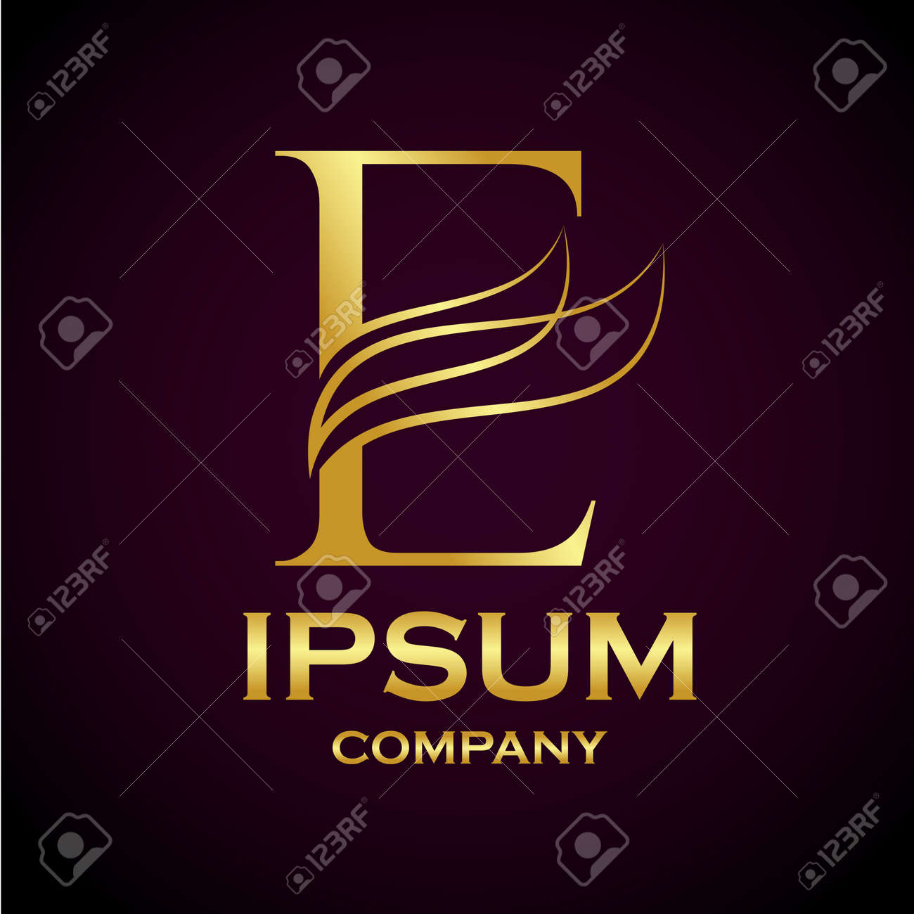 Abstract letter e logo designgold beauty industry and fashion abstract letter e logo designgold beauty industry and fashion logosmetics business altavistaventures Images