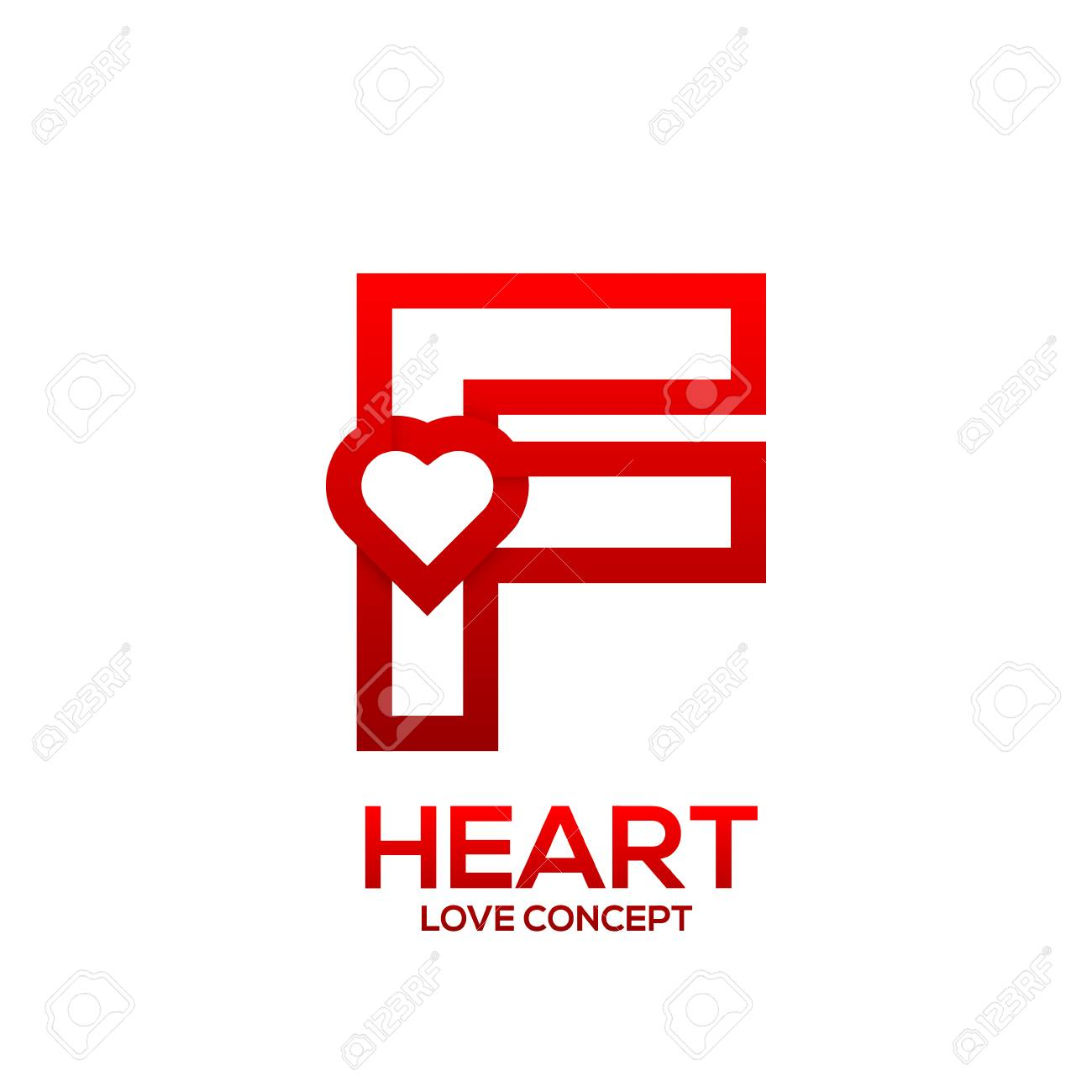 Letter f heart red color logovalentine day love concept logotype letter f heart red color logovalentine day love concept logotype stock vector 84132264 altavistaventures Choice Image
