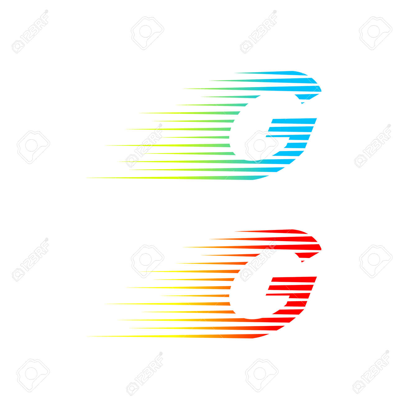 Abstract Letter G Logofast Speed Fire Movingquick Energy Sign For Your Corporate