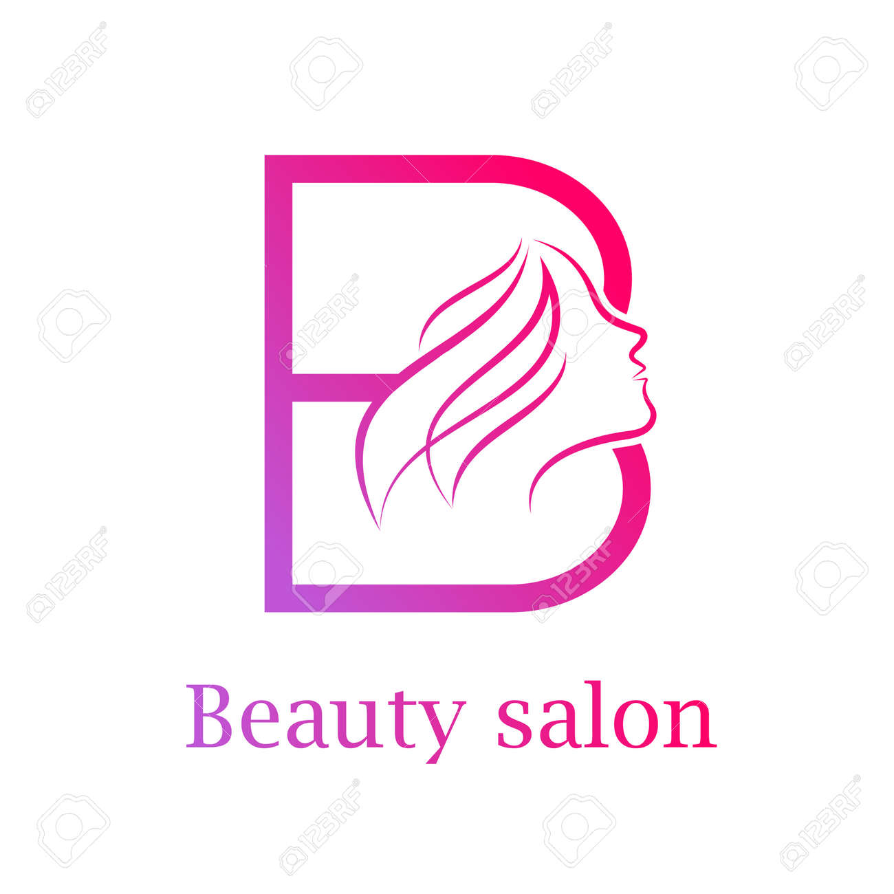 Abstract Letter B Logo Beauty Salon Logo Design Template Royalty Free Cliparts Vectors And Stock Illustration Image 84732281