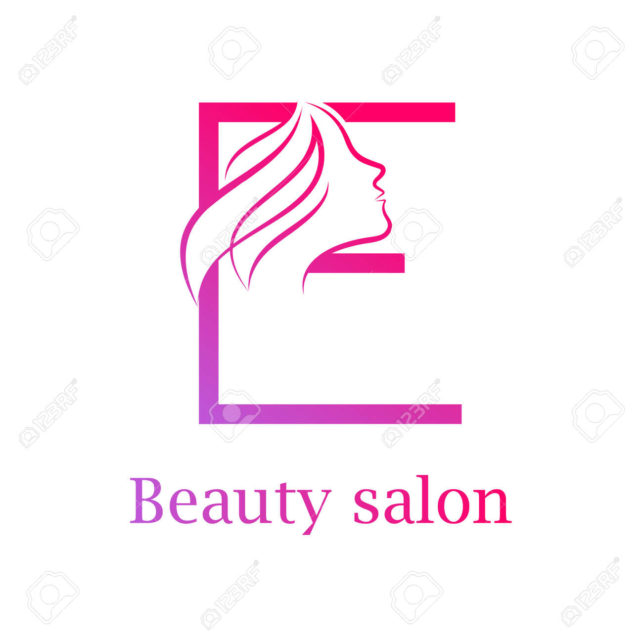 abstract letter e logobeauty salon logo design template stock vector 84733899