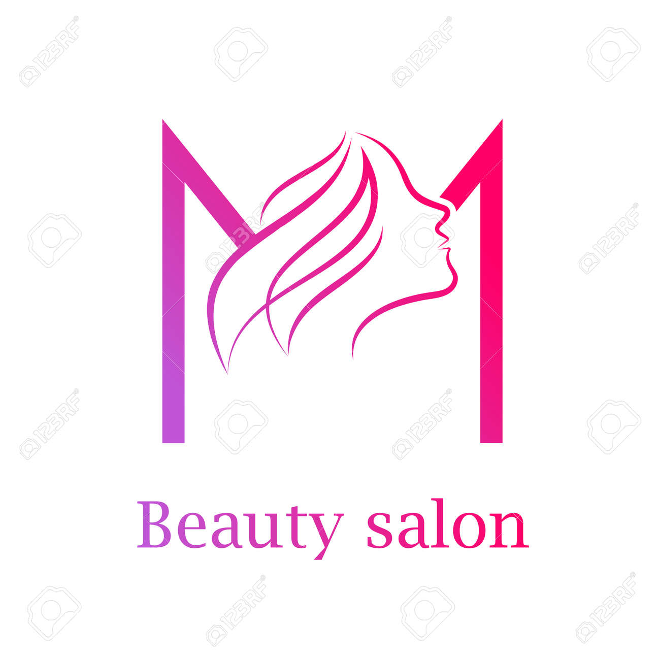 Abstract Letter M Logo Beauty Salon Logo Design Template Royalty Free Cliparts Vectors And Stock Illustration Image 84733906