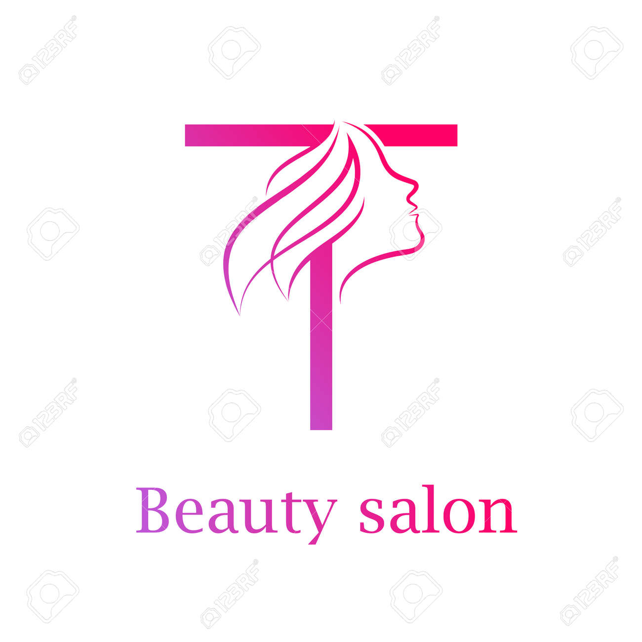 4e6ce79d Abstract letter T logo,Beauty salon logo design template Stock Vector -  84733914