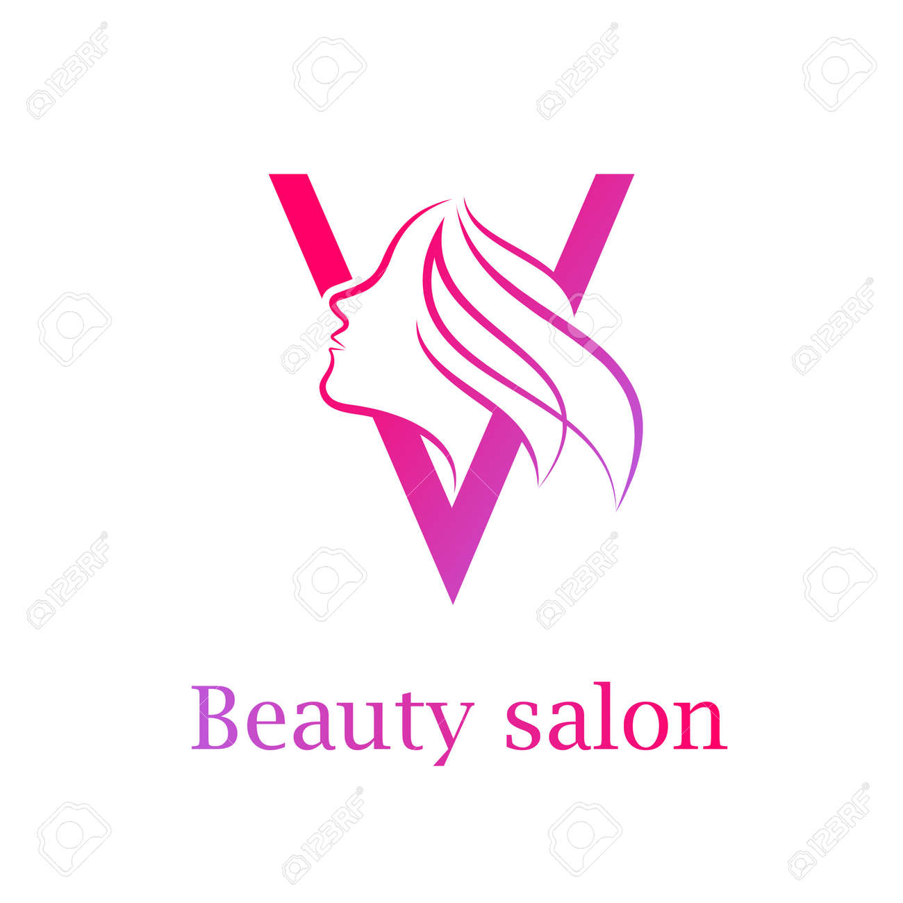 Abstract Letter V Logo Beauty Salon Logo Design Template Royalty Free Cliparts Vectors And Stock Illustration Image 84733915
