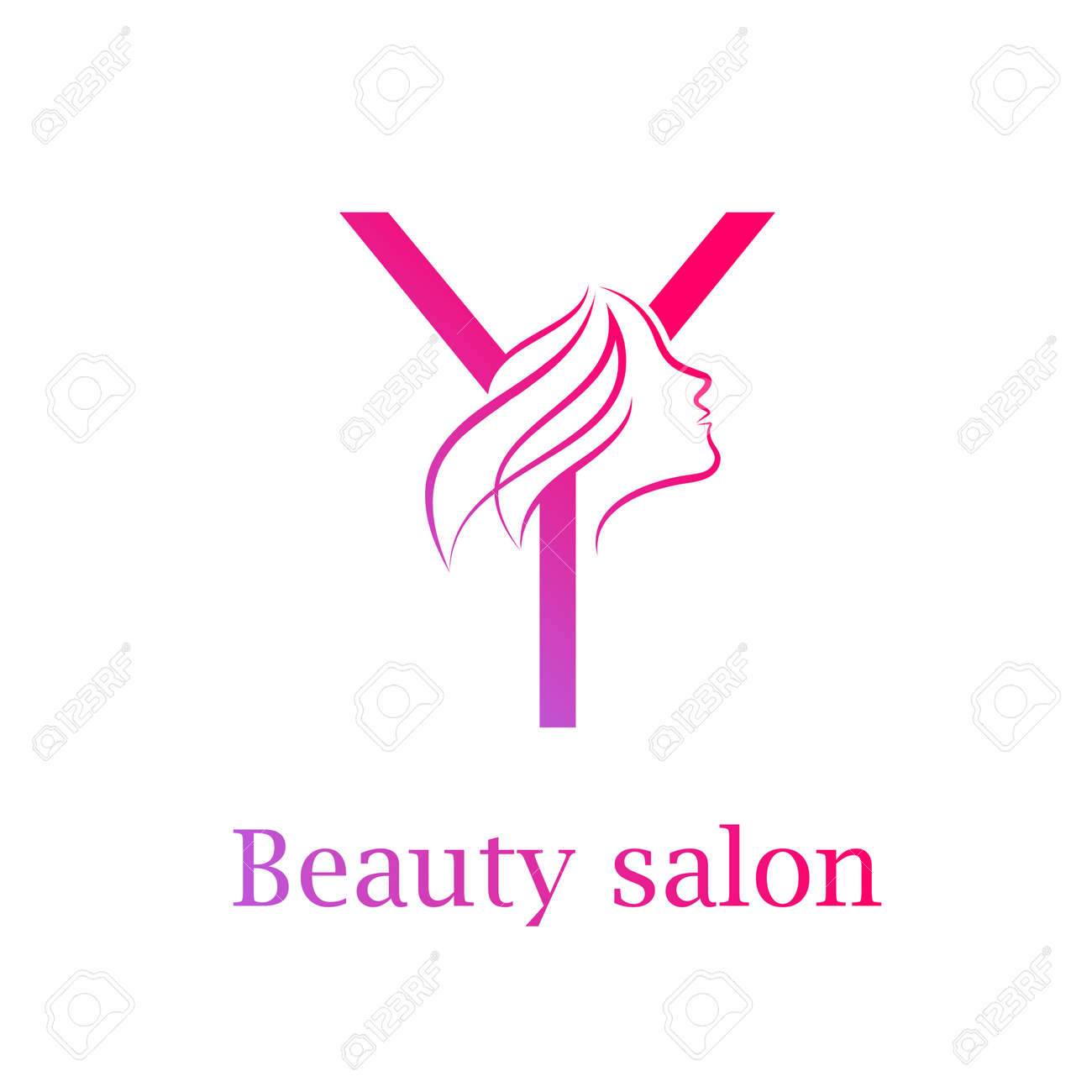 Abstract Letter Y Logobeauty Salon Logo Design Template Royalty