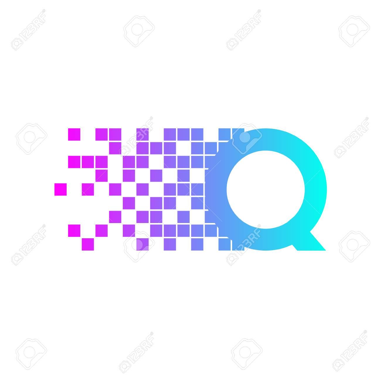 Letter Q Logo Design.network Digital Logo Icon Template. Technology ...
