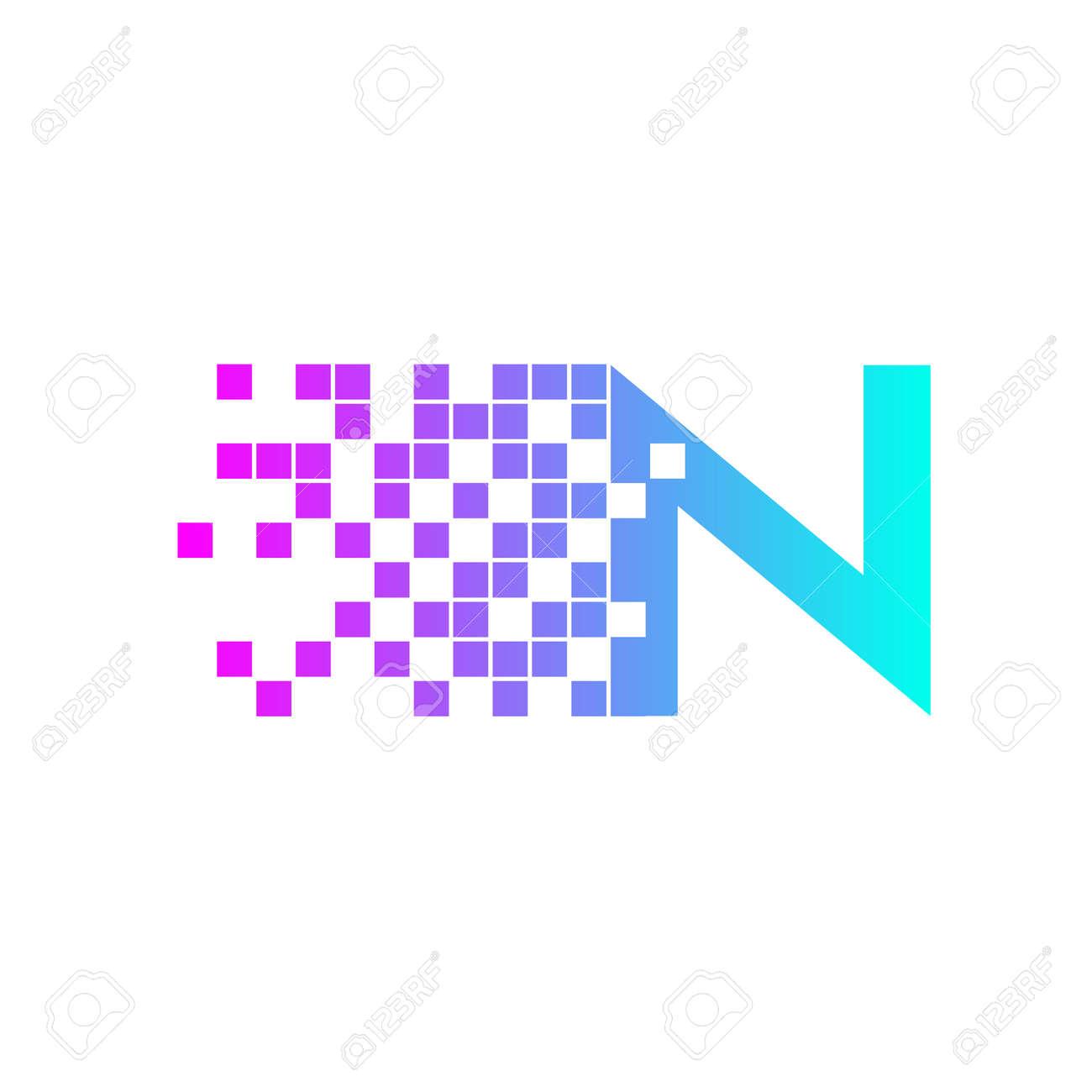 手紙 n ロゴ design network デジタル ロゴ アイコン テンプレート