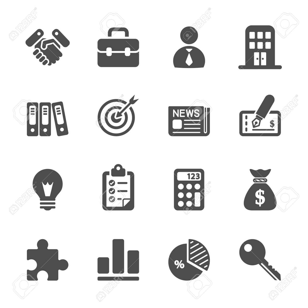 Business Und Buro Icon Set Lizenzfrei Nutzbare Vektorgrafiken Clip
