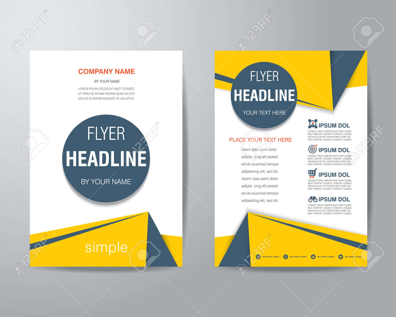 basic brochure template simple triangle and circle.html