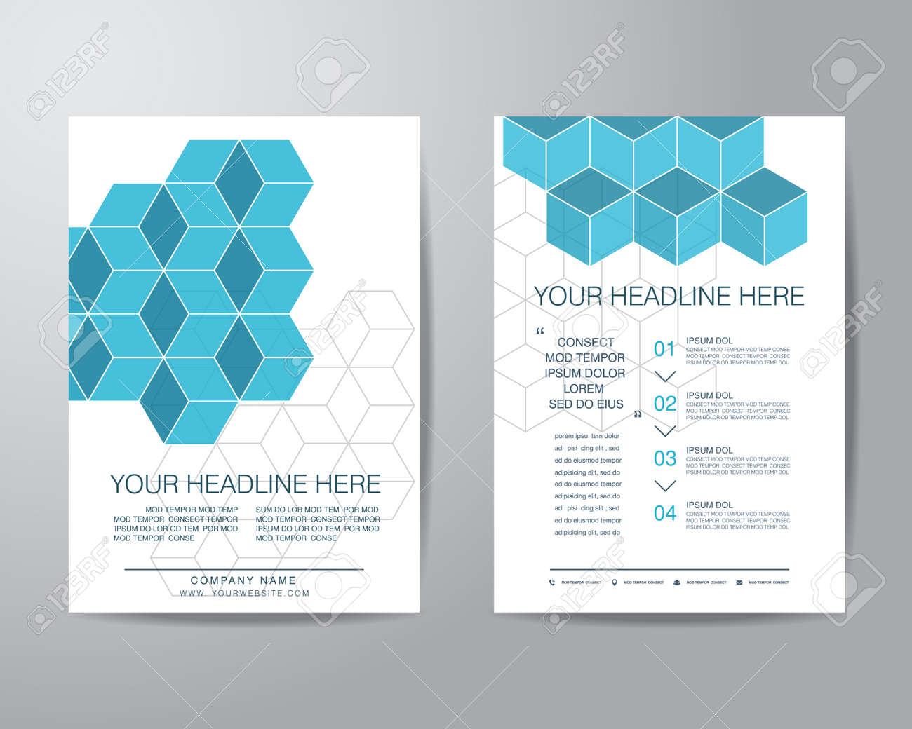 simple box brochure flyer design layout template in a4 size stock vector 44660441