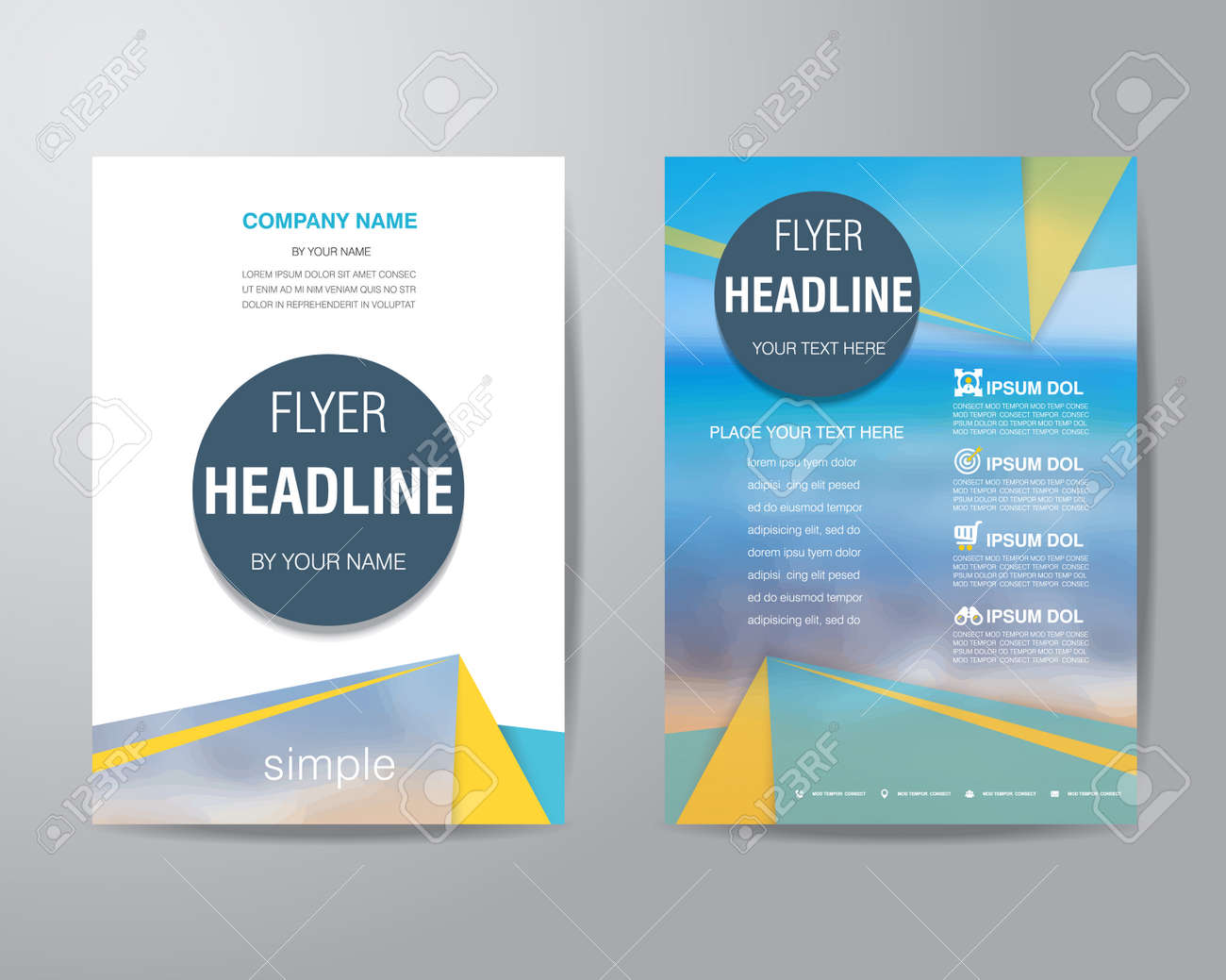 simple triangle and circle brochure flyer design layout template simple triangle and circle brochure flyer design layout template in a4 size vector eps10