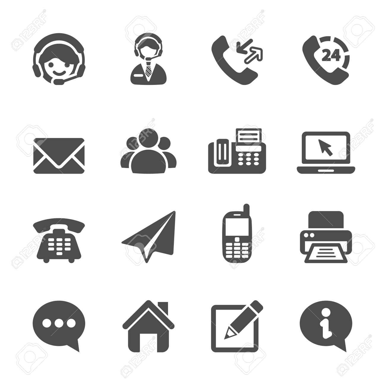 contact us icon set - 42262634