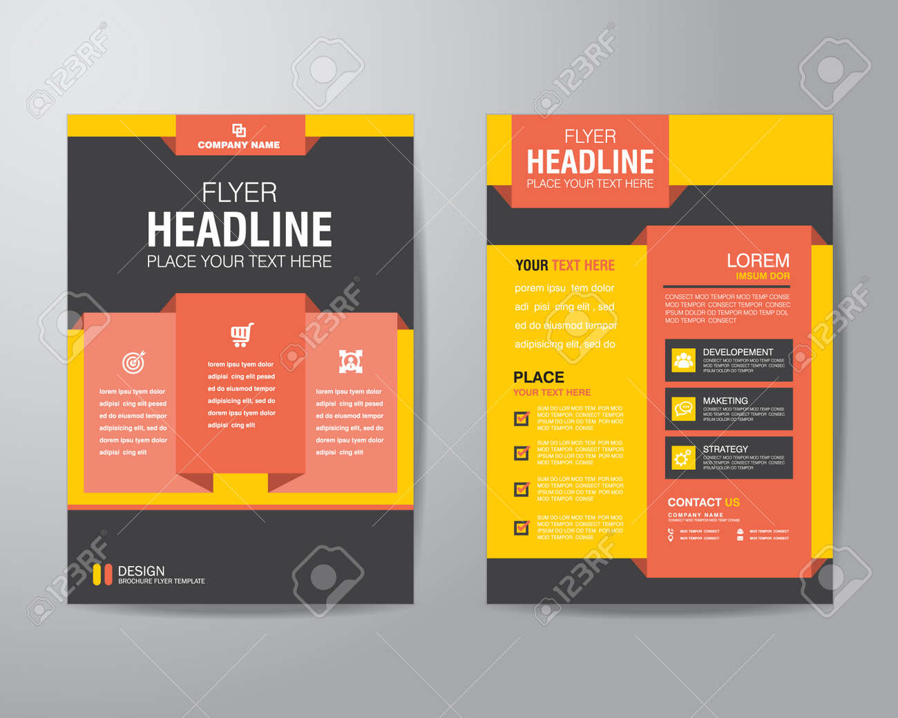 Corporate Brochure Flyer Design Layout Template In A4 Size, With ...