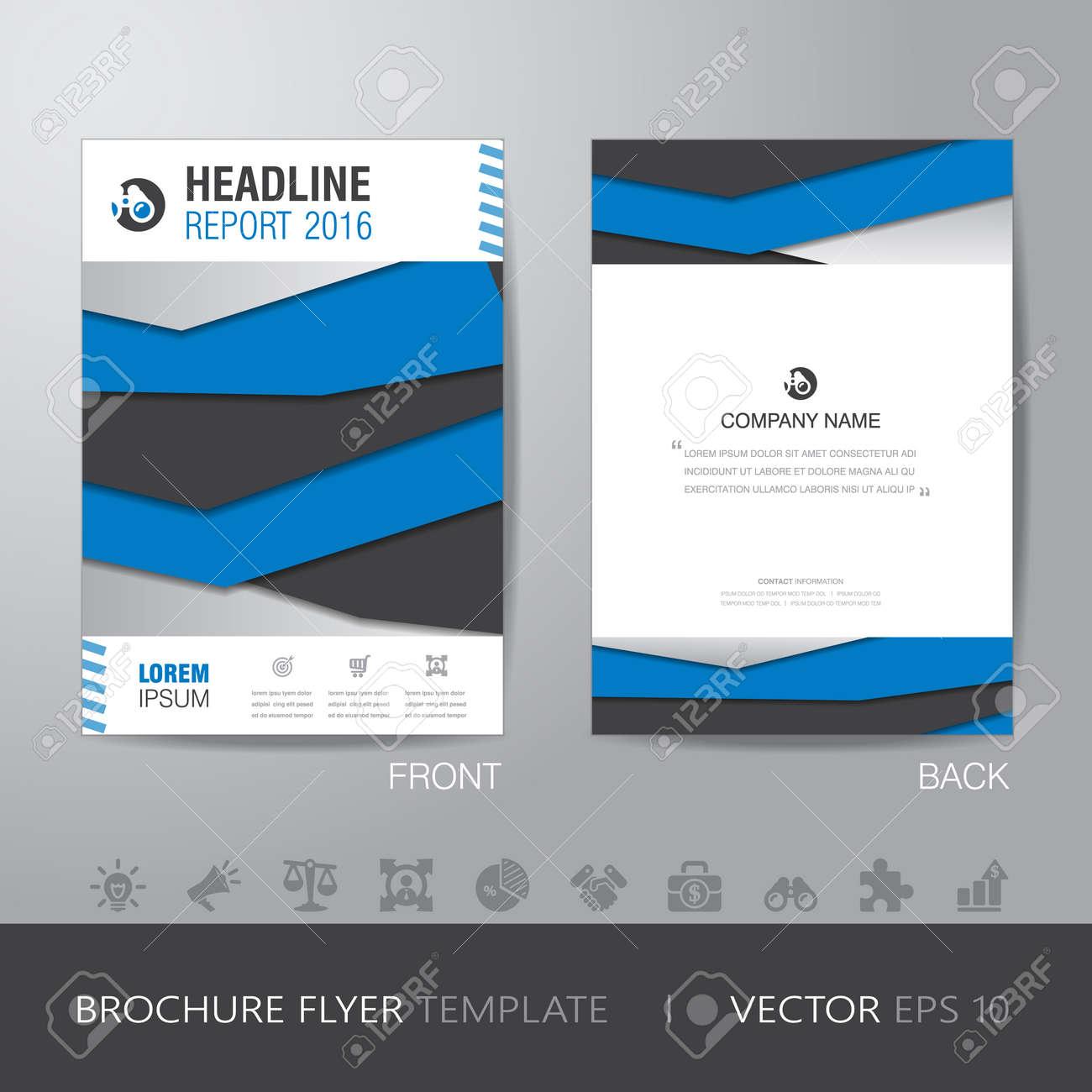 Rapport D Activité Brochure Flyer Design Modèle De Présentation Annuelle En Format A4 Avec Purge Vecteur Eps10