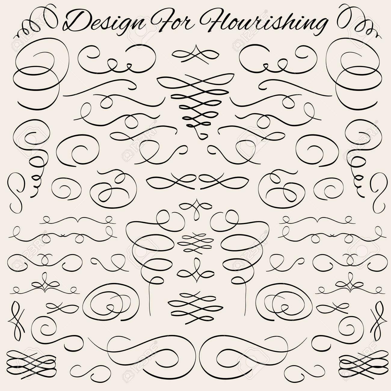 reihe von vektor vintage kalligraphische design elemente und seite dekoration trennwnde und striche - Dekoration Tren