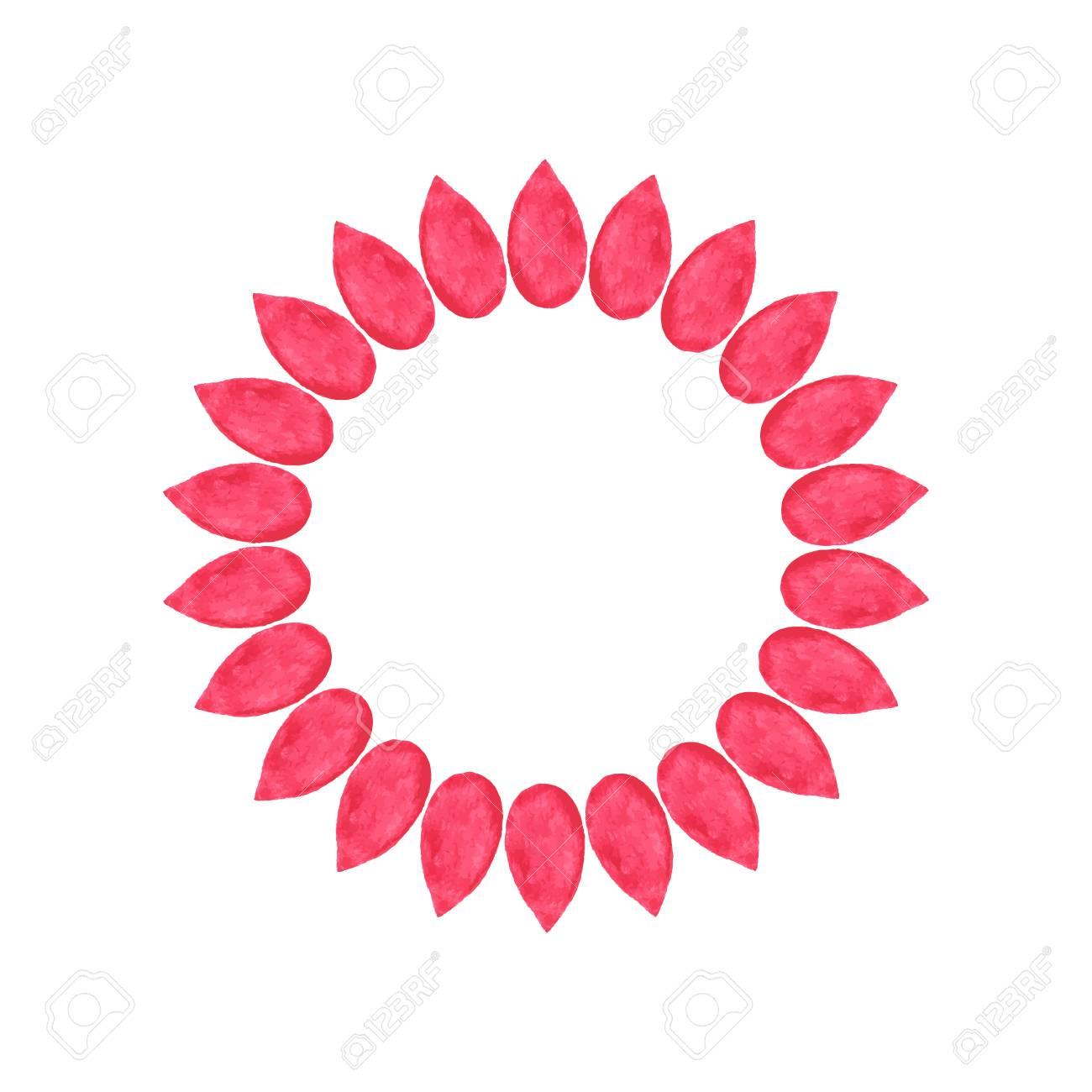 Petale Couronne Fleurs Dessinees A La Main Dessin Reel De L