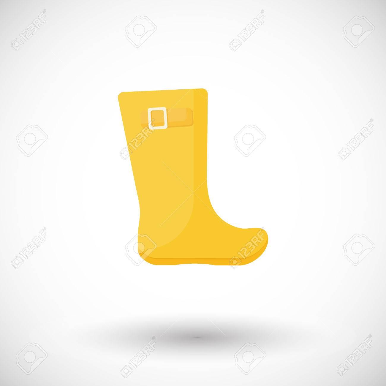 Rain Boots Vector Flat Icon, Flat