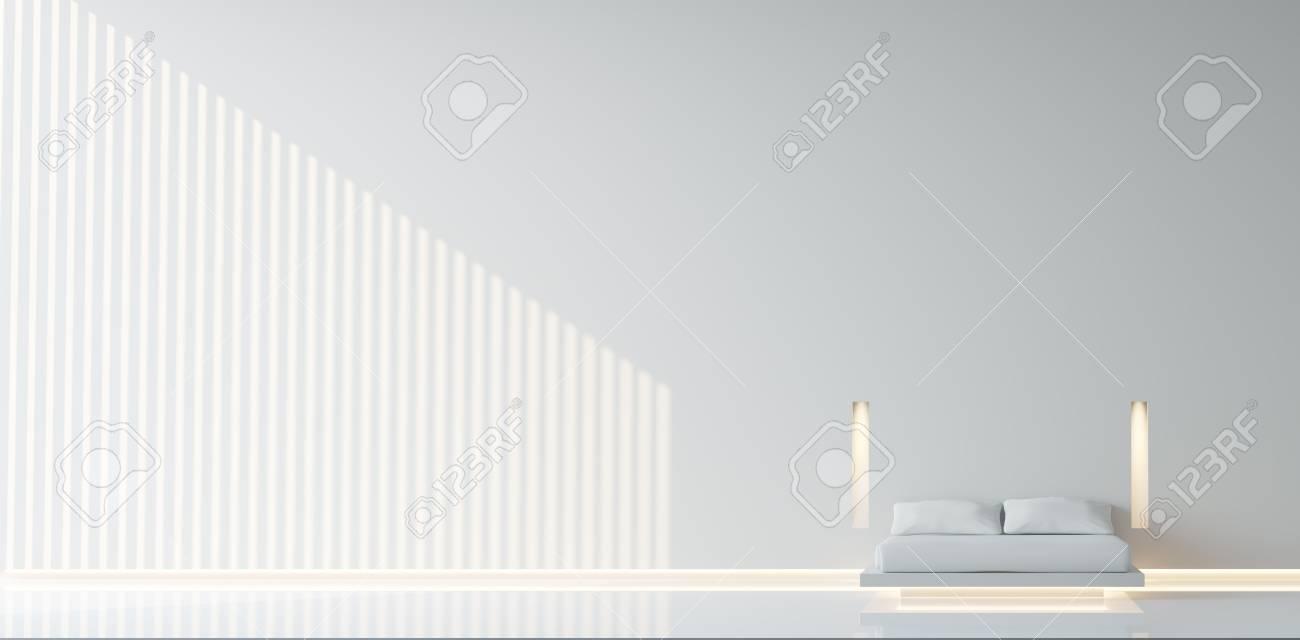 Modern minimal Bedroom/Modern White Bedroom minimalist style,basic..