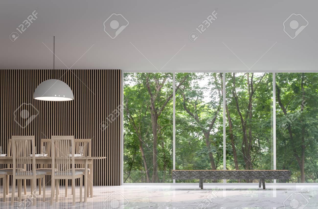 Moderner Fußboden ~ Modernes friedliches esszimmer im wald moderner ruhiger