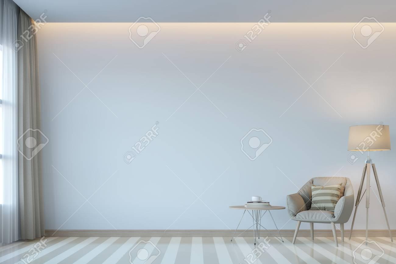 Modern White Living Room Minimal Style 3d Rendering Imagethere