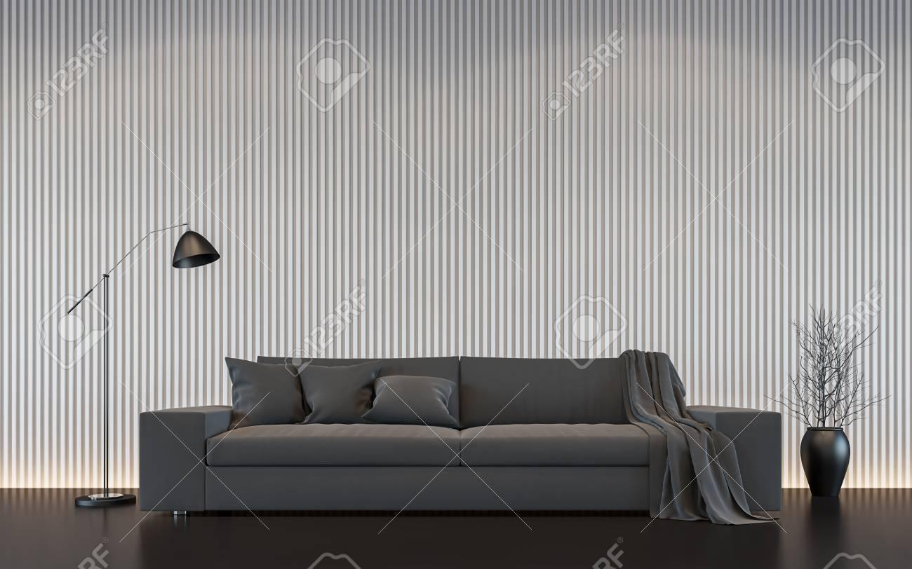 Pareti Con Foto In Bianco E Nero : Immagine interna della rappresentazione d del salone bianco