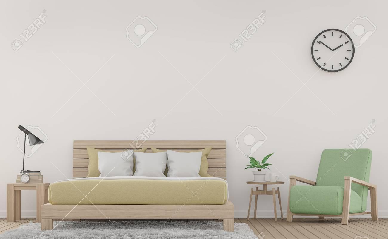 Chambre A Coucher Blanche Moderne Et Fauteuil Avec Mobilier En