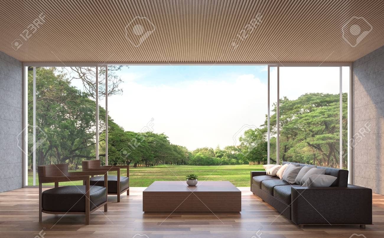 Modern Contemporary Living Room 3d Rendering Image The Rooms