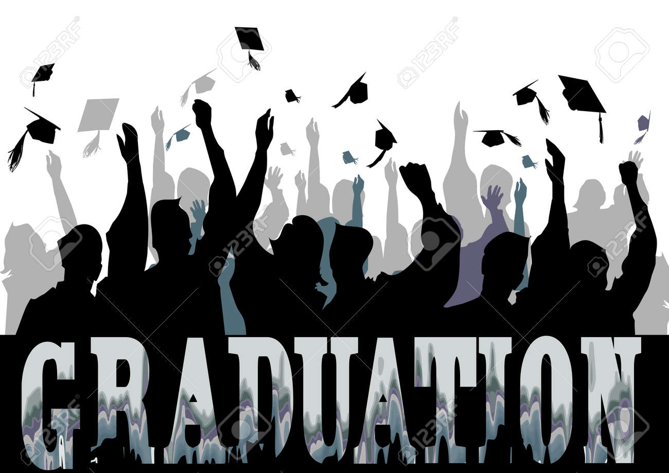 Graduation celebration in silhouette Stock Vector - 18711093