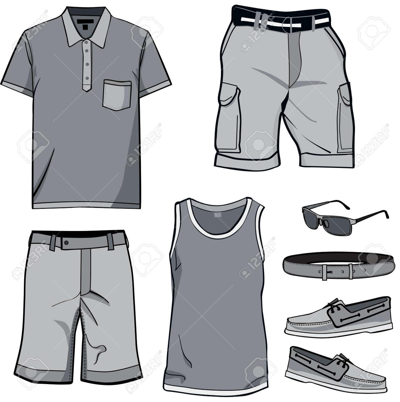 Dessin polo vetement - Les V Tements Pour Hommes Et Accessoires D T T Shirt Polo