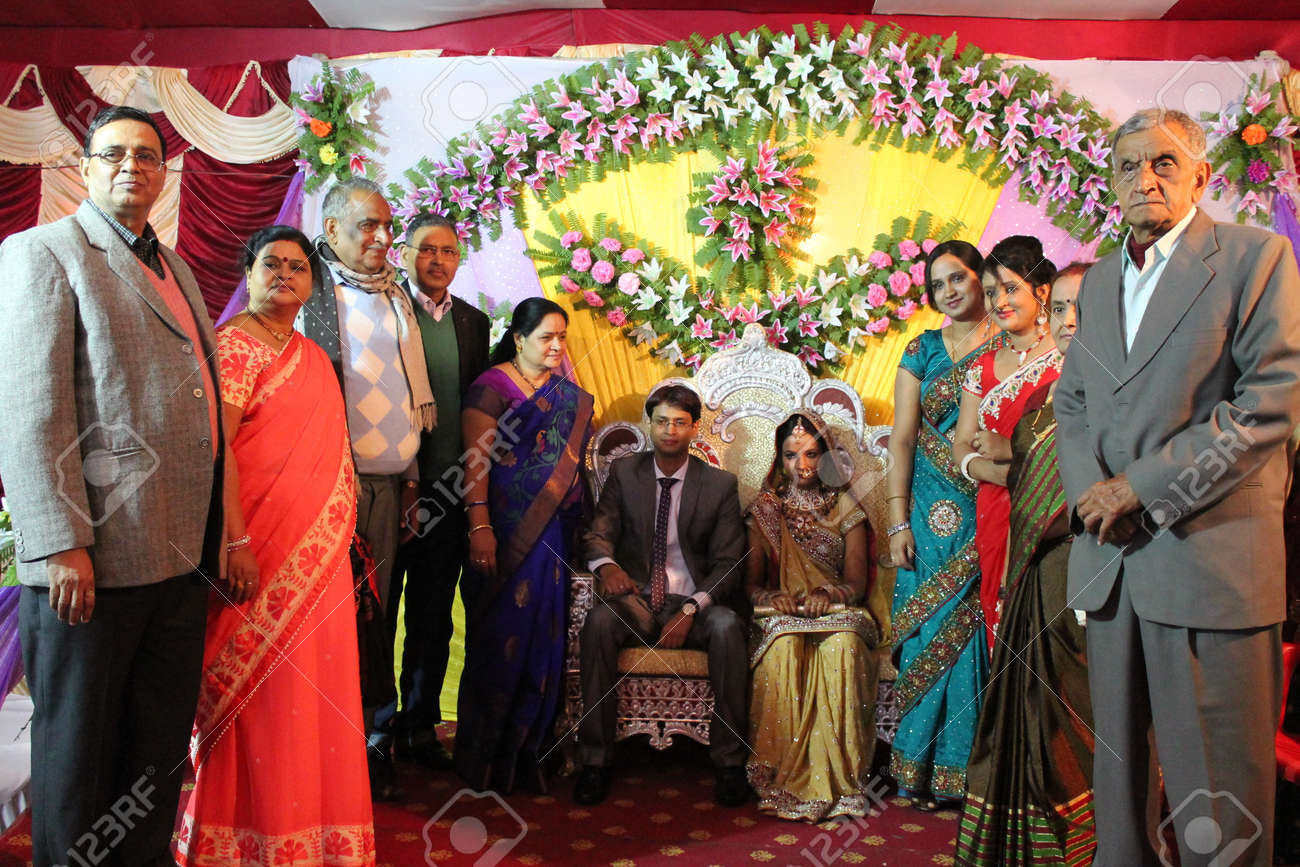 Indian marriage reception  Shot at 05 12 14, evening hours at