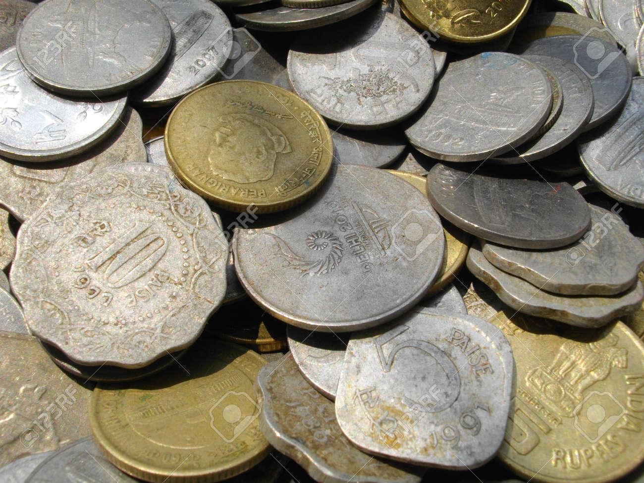 Indische Münzen Lizenzfreie Fotos Bilder Und Stock Fotografie