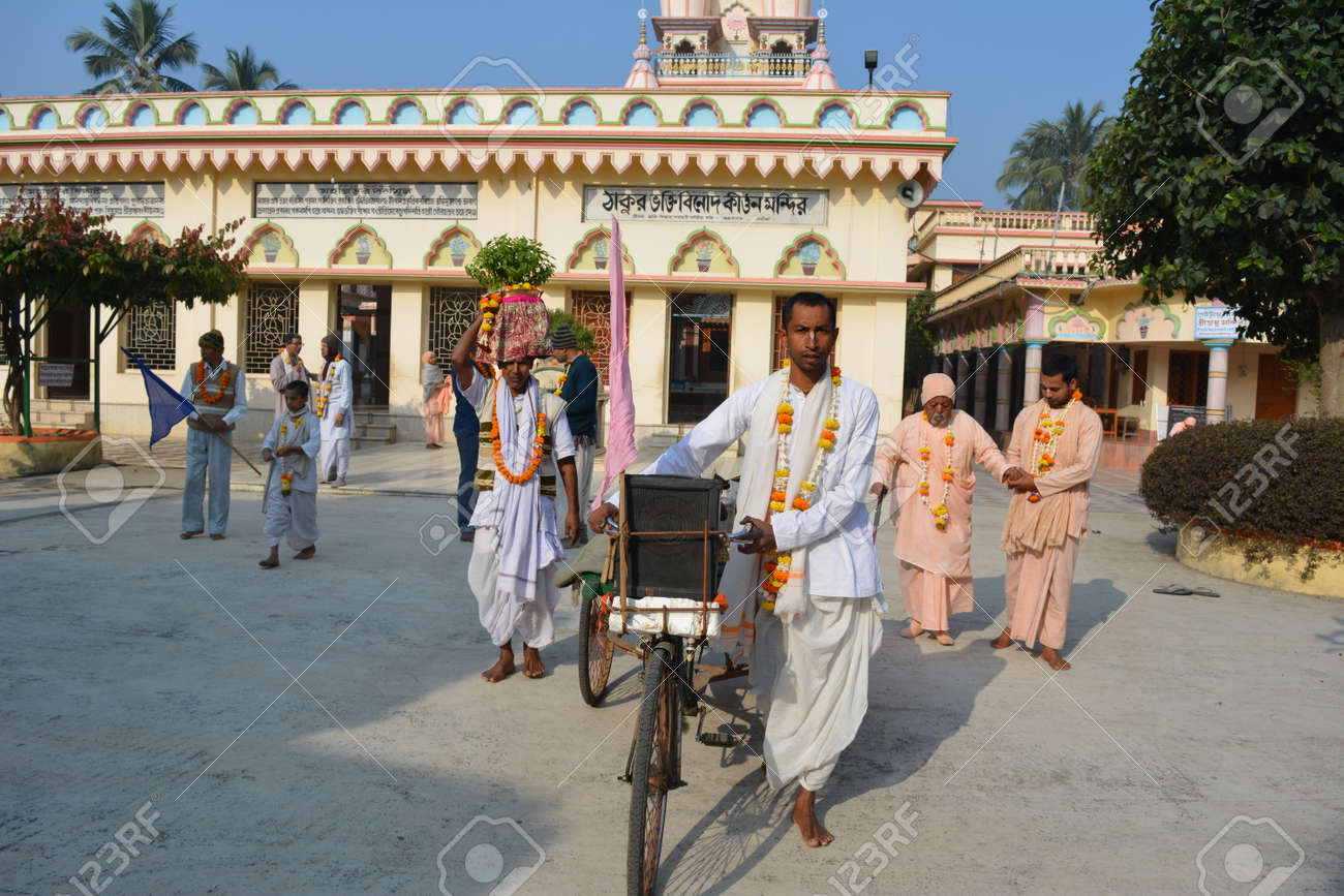 Gaudia temple, Swaroop ganj, Mayapur, Nabadwip, India  ISKCON