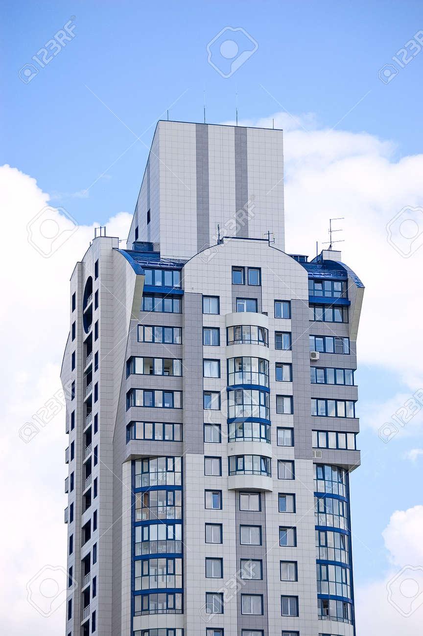 Modern office building on blue sky background Stock Photo - 3375973