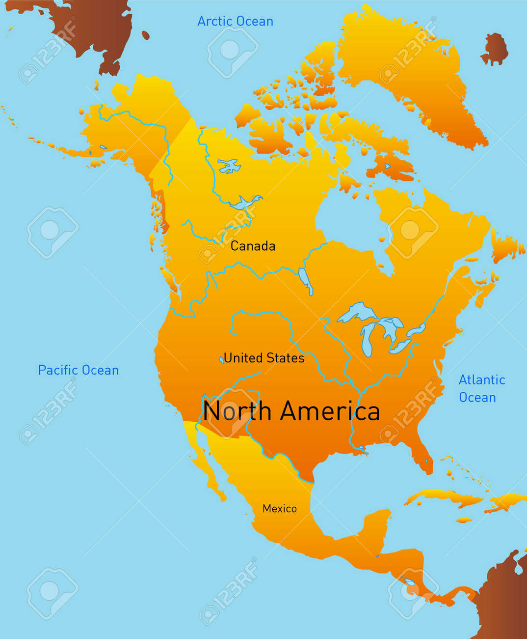 abstract map of north america continent stock photo picture and