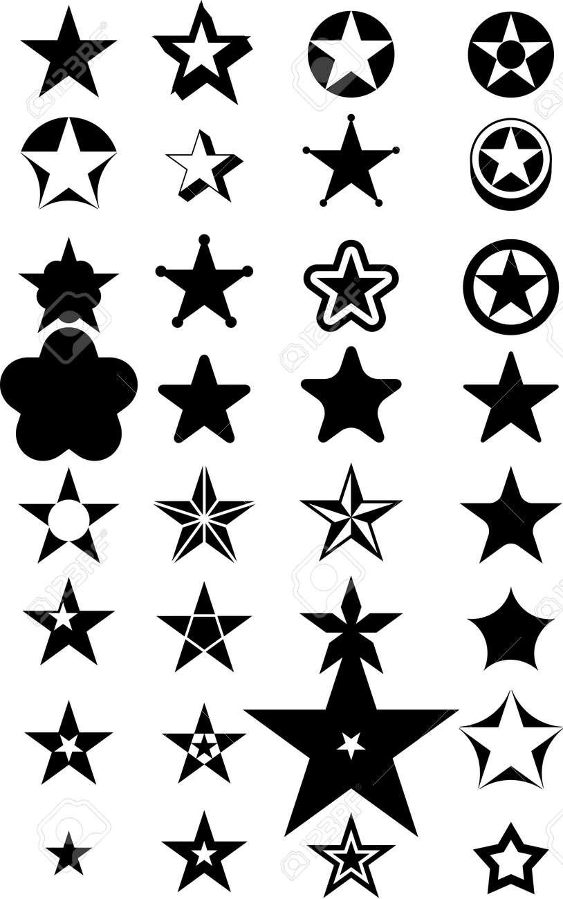Abstract vector stars black Stock Vector - 3381634