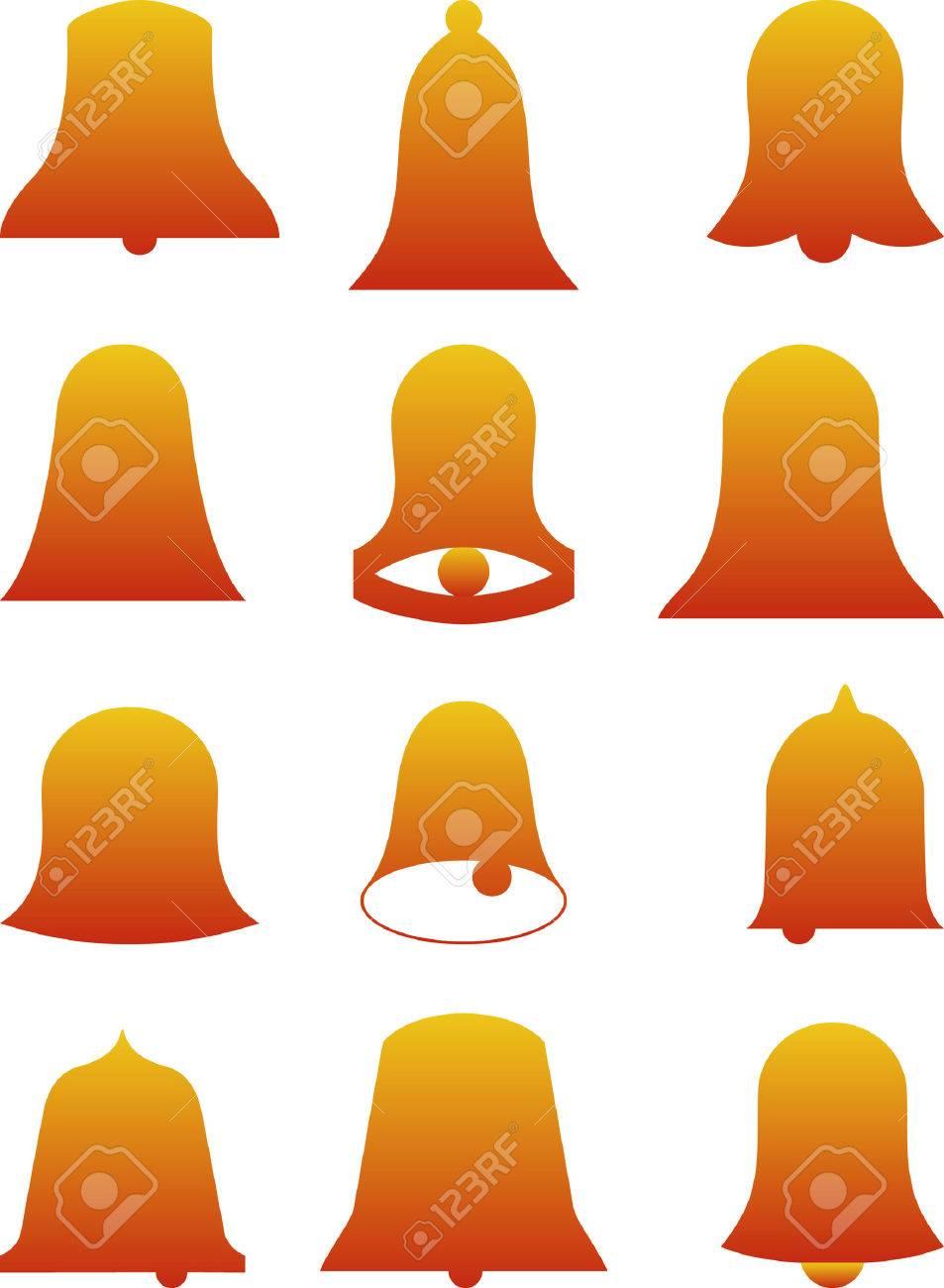 2D Abstract vector illustration. Bells Stock Vector - 3454038